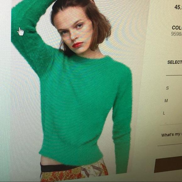 ae8f947c Zara Sweaters | Green Sweater M | Poshmark